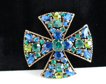 Maltese Cross Brooch