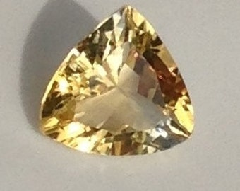 Citrine 2.60 Carat 10x10mm Natural Yellow Trillion Solitaire Gemstone