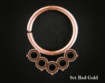 Gold Nipple Ring, Daith Ring, gold helix ring, gold daith hoop, gold tragus ring, rose gold septum, 20g septum ring, helix cuff, 16g, Apache