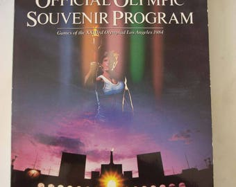 Official Olympic Souvenir Program. 1984 Olympic Games.