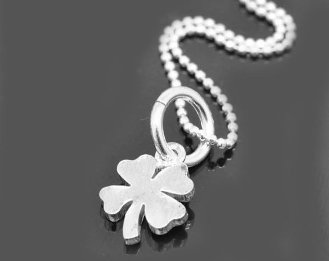 Clover necklace, sterling silver necklace, four leaf clover necklace, 4 leaf clover necklace, lucky necklace
