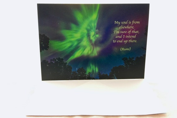 Rumi Quote, Inspirational Poetry, Greeting Card, Aurora Angel, Northern  Lights, Night Sky, Healing Art, Astro Photography, Wisconsin