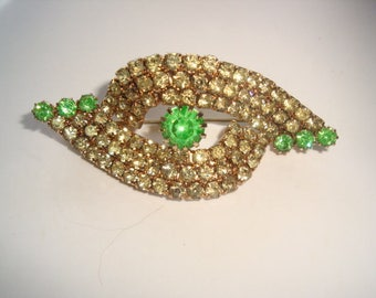Olivine and Citrine Unique Style Brooch