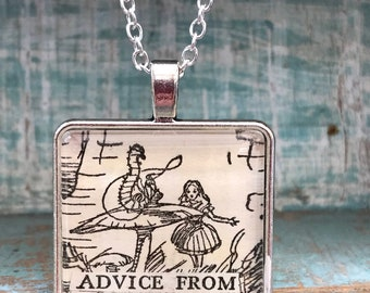 Alice in Wonderland Necklace Advice from a Caterpillar