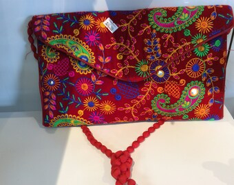 Lovely banjara clutch embroidery ,Mirror work