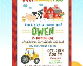 Barnyard/Farm/Animals Birthday Invitation