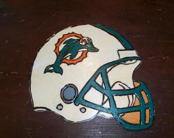 Handmade Vintage Football Wall Decor Miami Dolphins Sports Jock Dan Marino