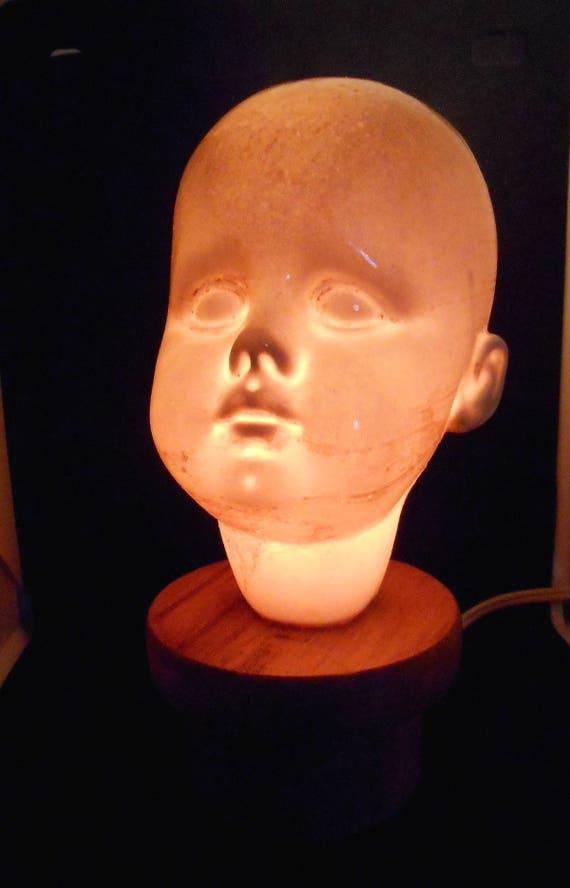Holey Baby Head Ceramic Mood Lamp