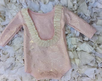 Pink Gold Sitter Backless Romper, Sitter Romper, Cake Smash Outfit, Photography Prop