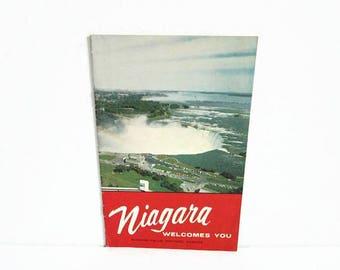 Vintage Guidebook, Niagara Welcome You, Niagara Falls Ontario Canada, Brief History Walking Tour Place to Visit, Honeymoon Capital, Handbook