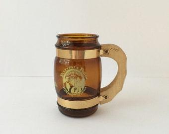 Vintage Amber Glass Mug Pittypat's Porch Restaurant Souvenir, Atlanta Georgia Souvenir Mug Georgia History Memorabilia Mug with a Story