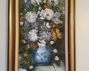 12×24 Floral oil painting on canvas