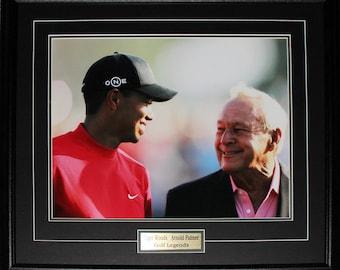 Arnold Palmer & Tiger Woods PGA Golf 16x20 frame