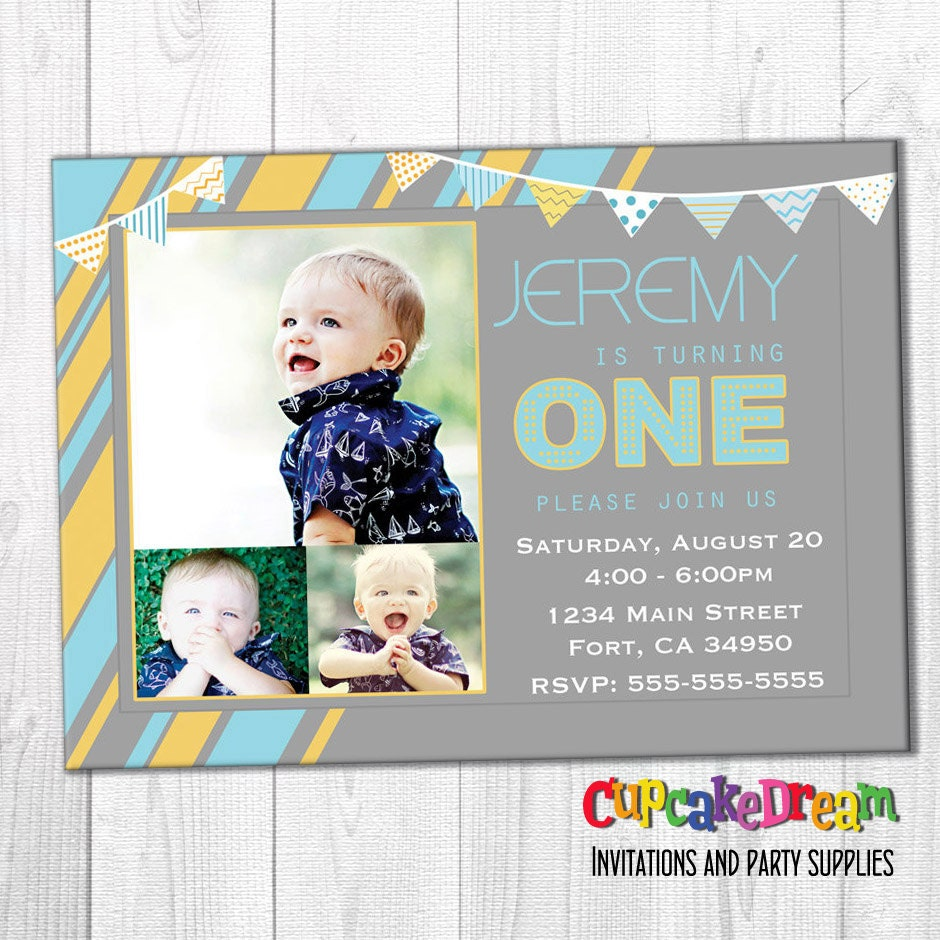 First Birthday Invitations Boy Birthday Party