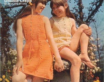 Vintage crochet pattern Paton's 2073