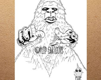 Bigfoot Giclee' Art Print