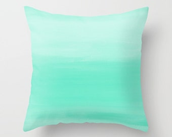 Mint pillow cover, throw pillow, cushion cover, decorative pillow,  home decor, ombre sofa pillow cover, accent pillow covers