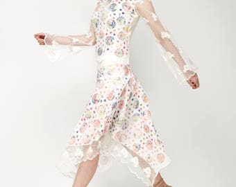 Langärmel top Begonia 100% cotton label Olcay Krafft fashion