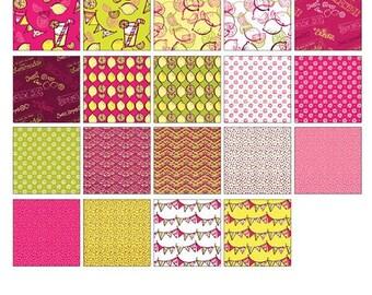 "Lemon Squeezy Pinwheel  By BENARTEX STUDIO 2.5"" Strips"