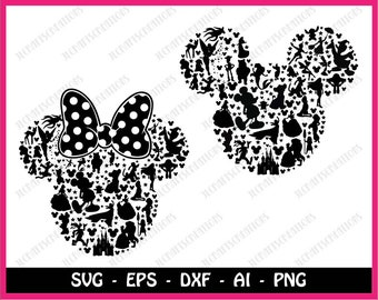 Mickey mouse SVG, disney svg, Minnie mouse SVG, mickey head svg, mickey, mickey clipart, SVG Files, Cricut Cut Files, Silhouette Cut Files