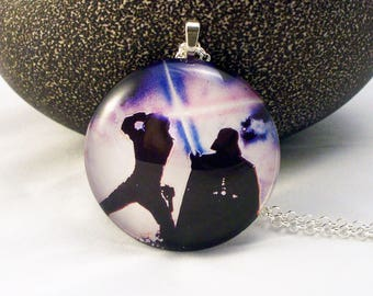 Darth Vader & Son Glass Necklace