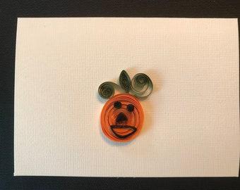 Quilled Halloween Jack-o-lantern card