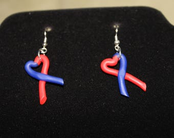 CHD Awareness Ribbon Earrings