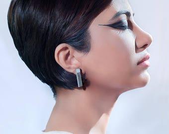 Micro Concrete Earrings #7
