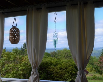 Stained Glass Windchime, Blue-Green