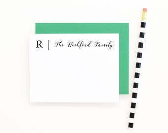 Family Stationery Personalized Stationary Set Custom Family Note Cards Monogram Stationary Family Thank You Notes Personalised Stationery