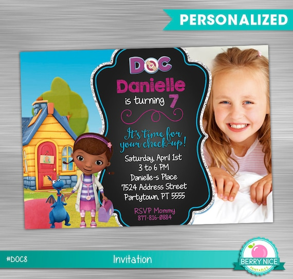 Doc mcstuffins invitation print yourself doc mcstuffins solutioingenieria Gallery