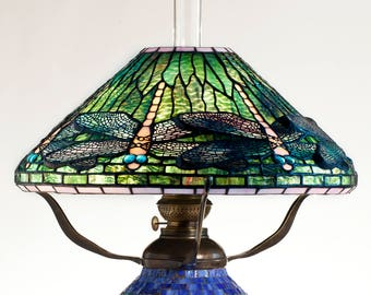 Dragonfly Lamp, Oil Lamp, Tiffany Lamp, Desk Lamp, Mosaic Lamps, Oil Lamp Shade, Standing Lamp, Mosaic Lamp, Kitchen Light, Dragonfly Art