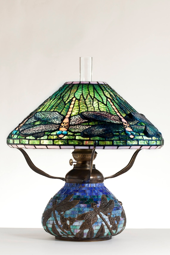 Libelle Lampe, Öllampe, Tiffany Lampe, Schreibtischlampe, Mosaik Lampen, Öl  Lampenschirm, Lampe, Mosaik Lampe Küche Licht, Stehend Libelle Kunst