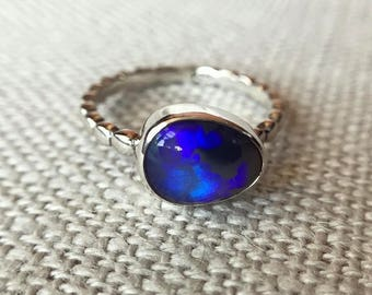 Sterling silver ring with Australian Opal SZ 8