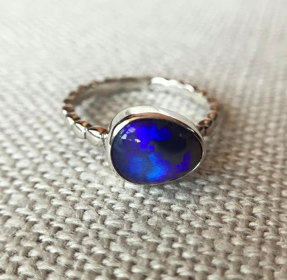 Sterling silver ring with Australian Opal SZ 8