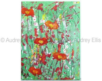 Hand Painted Original Acrylic, Mixed Media on Canvas No. 08