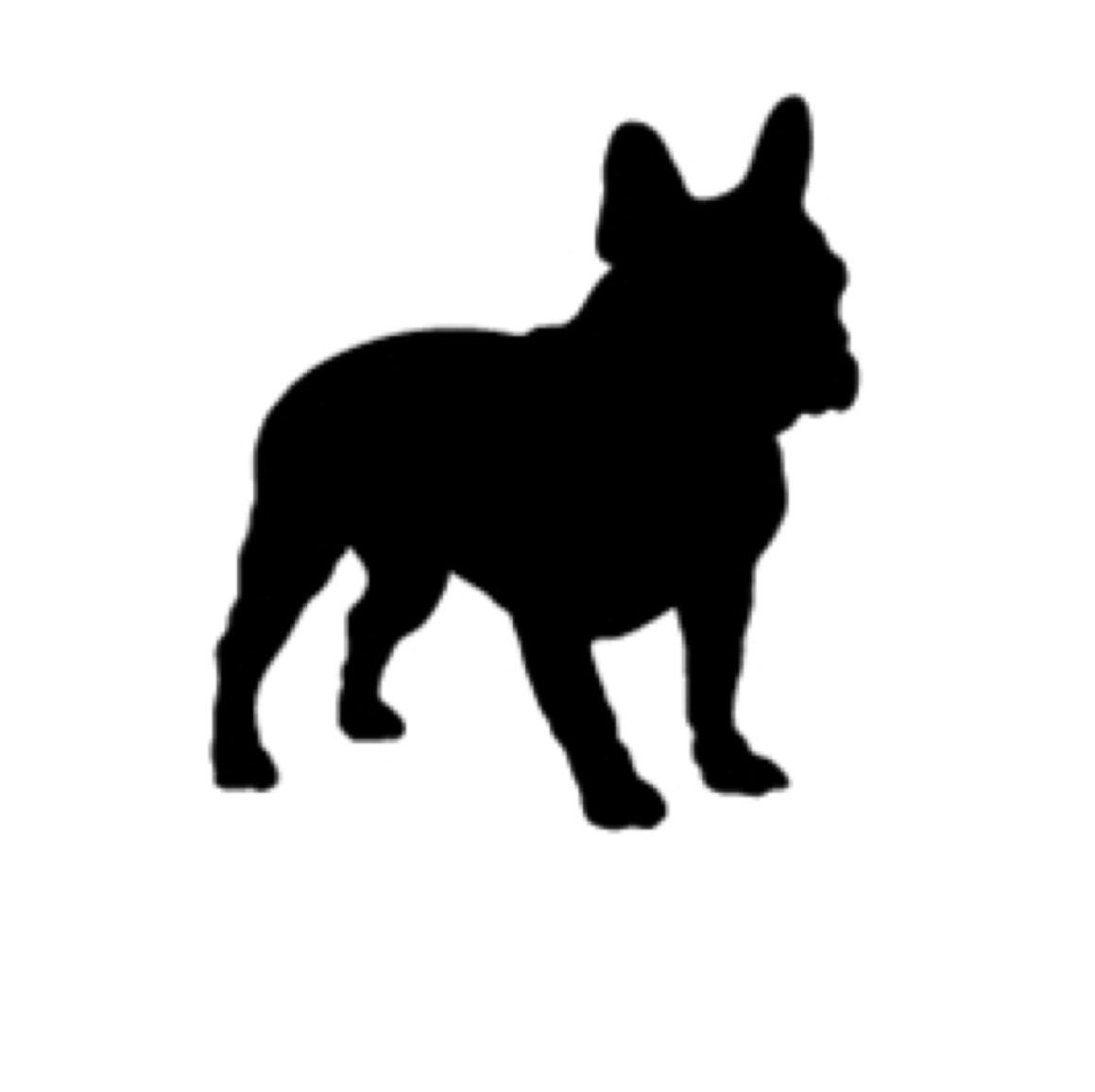 Boston Terrier Stencil Made From 4 Ply Mat Board