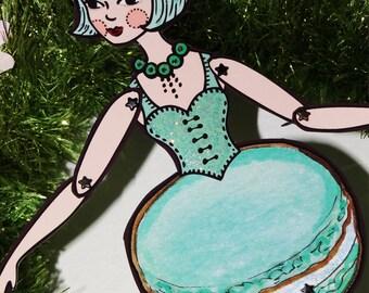 PDF Menthe Laduree Macaron Original Paper Art Doll
