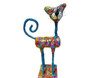 Cat sculpture, Cat home decor, Cat home design, Cat decor, Cat Collectibles, cat Decoration, Cat figurine, Cat Art, Cat lover, Whimsical Cat