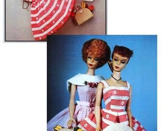 Sewing Pattern Barbie Fashion doll - Rockabilly Dress Sunday Outing 50s fashion