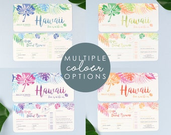 Tropical Airline Ticket Wedding Invitations with tear off RSVP section