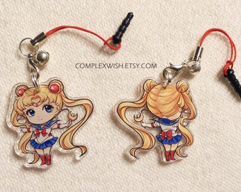 Reversible Sailormoon Charm - Sailor Moon