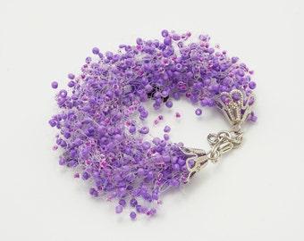 Gift for mom Amethyst Jewelry purple bracelet beaded bracelet for mom amethyst bracelet Violet bracelet purple bridesmaid gift gypsy jewelry