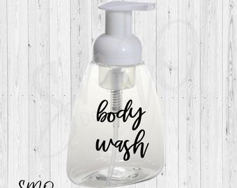 Foam Body Wash Label. DIY body wash label. Essential oil label. Essential oils.  young living.