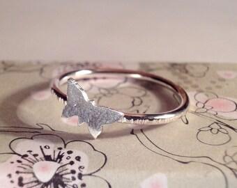Butterfly Ring: Handmade, Sterling Silver