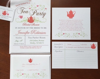 Printable RSVP Cards for Tea Party Invitations