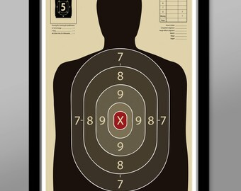 Official Gun Range Target Practice Poster - Print 323 - Home Decor
