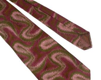 Tootal 1970s Purple Swirl Tie