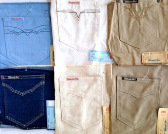 Denim Jean Pocket Accents – Set of 6-Assortment to Choose From