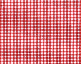 """Crimsom Red Gingham, 1/8"""" red and white checked fabric, Robert Kaufman Fabric, 100% cotton fabric"""